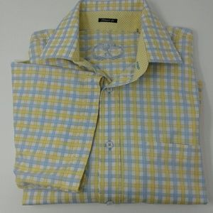 Bugatchi XL classic fit short sleeve button down
